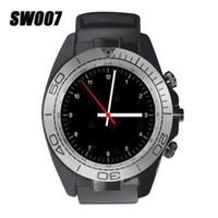 sim-карта поддерживается мобильным телефоном оптовых-Bluetooth Smart Watch SW007 с камеры шагомер носимых поддержка SIM-карты вызова напоминание для Android IOS мобильный телефон