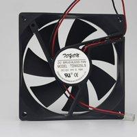 ventilador de 12v para enfriamiento. al por mayor-Para TONON TD9025LS 12V 0.16A 90 * 90 * 25mm 2pin ventilador de enfriamiento silencioso hidráulico
