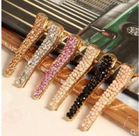 Wholesale Butterfly butterfly European and American style simple drill rhinestone hair clip side clip top clip hair ornaments