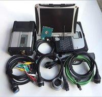 ingrosso laptop esplorazione auto-per diagnosi mb star c5 con cf19 Laptop Toughbook Diagnostic PC hdd 320 gb per auto camion scanner pronto per il lavoro