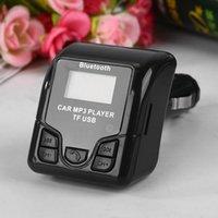 автомобиль сотового телефона bluetooth оптовых-Универсальный Bluetooth Handsfree Беспроводной Автомобильный MP3 Аудио Плеер FM Модулятор с USB Зарядное Устройство ЖК-Дисплей для мобильных телефонов GGA92 100 ШТ.