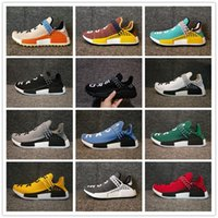 Wholesale dark cloud - Hot Human Race Pharrell Williams Hu Trail NERD Men Womens BBC Running Shoes Clouds Moon Noble Ink sports Shoes