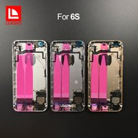 Wholesale middle frame battery cover - Back Battery Housing cover With Pre-Installed Flex Cable For iPhone 6s 4.7 inch Full Metal Alloy Housing Middle frame free shipping