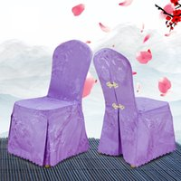 Wholesale meeting quality - Chair Covers Hotel Polyester Fiber Phoenix Flower Table Seat Meeting Exhibition Stool Set Wedding Banquet High Quality 18wt V