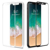 couvertures d'écran d'iphone achat en gros de-Verre Trempé 3D Pour iPhone XS Max XR 9H Film de Protection Protecteur D'écran Anti-Explosion Film pour iPhone X 8 Plus 7 6 6S SE 5S