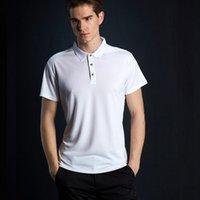 secas camisas pólo ajuste venda por atacado-Moda Quick Dry Polos Slim Fit Camisa Polo Homens Sólida Respirável Moda Men 's Poloshirt Marcas de Manga Curta Baratos Camisa Masculina