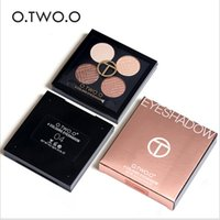 Wholesale women professional wear - New Brand O.TWO.O 4 Colors Palette Eyeshadow with Double Edge Brush Make Up Eye Shadow For Women Girl Gift Palette Professional Makeup300125