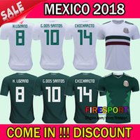 Wholesale wholesale browns jerseys - 2018 Mexico CHICHARITO World Cup Soccer jersey home green Away White 18 19 G.DOS SANTOS R.MARQUEZ O.PERALTA H.LOZANO Football uniform Shirts