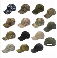 Wholesale Camo Hats Caps - Camo Special Force Tactical Operator hat Baseball Hat Cap Baseball Style Military Hunting Hiking Patch Cap Hat LJJK970