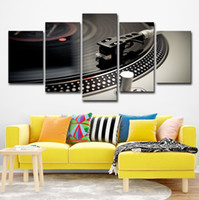 Wholesale dance instruments resale online - Canvas Paintings Home Decor HD Prints Dance Hall Bar Posters Piece DJ Music Instrument Turntables Pictures Night Club Wall Art