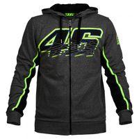 Wholesale Vr Shirt - Valentino Rossi VR 46 Moto GP Hoodie To Keep Warm Winter Sports Jacket Men's Zip-up Hoody Motorcycle Casual Coat Hoodies
