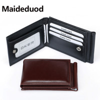 Wholesale photo clamp clip - Fashion Men Dollar Clip Black Coffee Bright Leather 3 Folds Style Money Clips Clamp With Coin Pocket Free Shipping