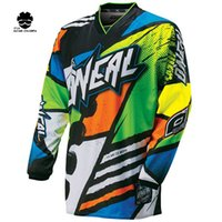 Wholesale New Bmx Bikes - 2018 New Green Red Black Moto GP Mountain Bike Motocross Jersey BMX DH MTB T Shirt Clothes Orange