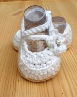 Wholesale Crochet White Baby Booties - Crochet Baby Shoes,White Baby Shoes,Handmade Wedding Shoes,Baby Ballerina White Shoes,Newborn Booties size 0-12 months