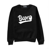 hoodies sweatshirts grossas venda por atacado-Designer de Hoodies Moda Maré Camisola Streetwear Mens Hoodie Ocasional Grossa Manga Longa Tops Roupas Magro Estilo Tripulação Pescoço Tamanho S-2XL