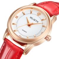relógios de mulher quartzo de couro venda por atacado-Amantes De Luxo Mulheres Relógios Homens e Mulheres Relógio de 40mm Homens e 30mm de Diâmetro Dial Quartz Pulseira de Couro Pulseira Casal relógio de Pulso