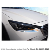 Wholesale chrome headlamp for sale - Group buy For Mazda CX CX3 Car styling sticker Cover ABS Chrome Head Front light eyebrow headlamp hoods Guard Frame
