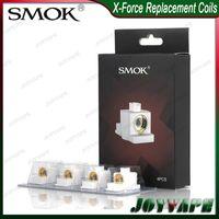 vapeurs x réservoirs achat en gros de-SMOK X-FORCE COILS 0.6ohm 1.2ohm Tête de rechange pour réservoir X-FORCE Céramique de conception TRANSVERSALE avec goût soyeux Massiva Vapor 100% Original