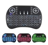 teclado riu mini i8 bluetooth venda por atacado-Rii Mini i8 Teclado Sem Fio Retroiluminado Teclados Bluetooth Touchpad jogo Fly Air Mouse Controle Remoto Multi-media Handheld com caixa de varejo