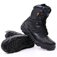 ingrosso pattini delta all'aperto-Stivali tattici Delta da uomo Scarpe da viaggio all'aperto antiscivolo impermeabili di alta qualità Scarpe da ginnastica nere da uomo. Scarpe da trekking