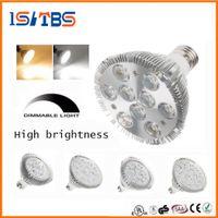 Wholesale 18w Par38 Led Light - Dimmable Led cree par38 par30 par20 85-265V 9W 10W 14W 18W 24W 30W E27 LED Lighting Spot Lamp light downlight