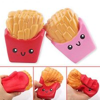 Wholesale potato chips toy resale online - Squishy French Fries Jumbo Potato Chip Slow Rising Soft Scented Bread Squishies Stretch Kid Toy Gift Decompression Toy GGA96