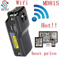 mini cámaras secretas al por mayor-Wholesale-MD81S Mini cámara Wifi IP P2P cámara inalámbrica grabación secreta CCTV Android iOS Videocámara Video Espia Nanny Candid