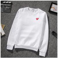 Wholesale Heart Sweater Xl - kanye west High quality red heart embroidered sweater men women yeezus streetwear hip hop Sweatshirts justin bieber hoodie jacket