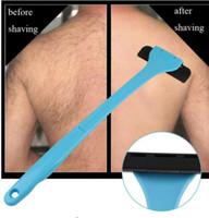 arka çıkarıcı toptan satış-Plastik Manuel Geri Saç Tıraş Remover Uzun Saplı Jilet Erkekler Tıraş Tüm Vücut Parçaları Saç Blade Remover KKA4523