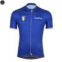 italien kleidung großhandel-NEUE 2018 blaue Italia-Gebirgsstraße, die den Team-Fahrrad-Pro radfährt Jersey / Hemd-Oberseiten-Kleidungs-atmenluft JIASHUO besonders anpaßt