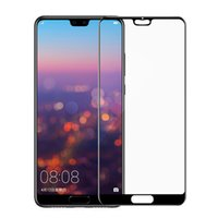 Wholesale Film Fronted Bags - For Huawei P10 LITE P10 PRO P8 LITE 2017 P20 PRO P20 LITE Full Screen Silk Print Toughened Film Tempered Glass Screen Protector 100P OPP BAG