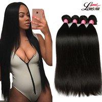 Wholesale queens peruvian hair - Charming Queen Peruvian Straight Hair 3 Bundles 100% Unprocesse Virgin Human Hair Extension Virgin Peruvian Straight Hair Wave Bundles Deals