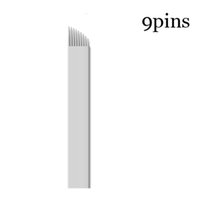 Wholesale Feather Blades - 50 Pcs 9 Pin Blades for Microblading Eyebrow Embroidery Feathering Semi Perm Brow Permanent Makeup