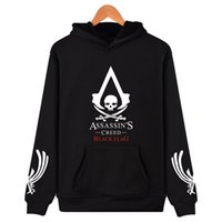 assassin creed blue hoodie al por mayor-ALIZAZA Assassins Creed sudadera con capucha Assassins Creed sudadera con capucha 2017 moda 4xl xxs más negro blanco gris azul