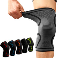 Wholesale bike elbow - 2PCS Fitness Running Cycling Knee Support Braces Elastic Nylon Sport Compression volleyball knee pads youth basketball knee mountain bike