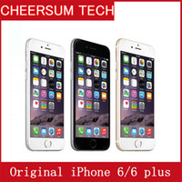 "Wholesale Iphone Refurbish - Free DHL Unlocked Original Apple iPhone 6 6 Plus Mobile 4.7"" 5.5'' 1GB RAM 16GB 64GB 128GB ROM IOS Cellphone original LCD original package"