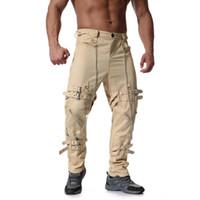 винтажная одежда из хип-хопа оптовых-Brand Sweatpants Men Pants Joggers Men Clothes 2018 Hip Hop Plus Size Multi Zipper Cotton Vintage Casual Trouser Long Pants