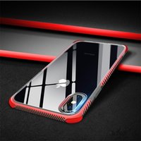 Wholesale clear design cases resale online - New Design Anti Shock And Anti Skidding Soft TPU Silicone Clear Cases MM Good Quality For IPhone X Plus S