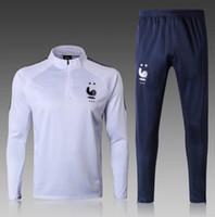 Wholesale 2 STAR Maillot de Foot survetement Homme football tracksuit fr MBAPPE POGBA GRIEZMANN soccer jacket training suit