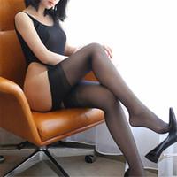 seksi sıkı sıcak iç çamaşırı toptan satış-Seksi Kadın Tayt Vintage Naylon Çorap Uyluk Yüksek Çorap Kadın Külotlu Sexy Lingerie Sıcak Bayanlar Medias Çorap
