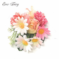 Wholesale flower hair accessories brooches for sale - Group buy EVER FAIRY Bridal Flower Hair Clip Hairpins Barrette Wedding Decoration Hair Accessories Women Sunflower Brooch