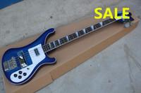 accessoires de basse guitares achat en gros de-Livraison gratuite Custom Nice Blue 4 Cordes Basse 4003 Rick Electric Bass accessoires importés par la Corée du Sud
