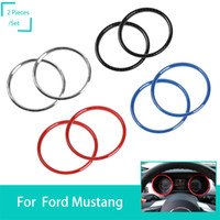 Wholesale mustangs accessories for sale - Car Instrument panel ABS Decoration Trim Ring Fit Ford Mustang High Quality Auto Interior Accessories