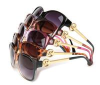 italienische sonnenbrillen marken großhandel-Luxus Italienische Marke Sonnenbrille Frauen Kristall Platz Sonnenbrille Spiegel Retro Full Star Sonnenbrille Weibliche Schwarz Grau Shades 8101