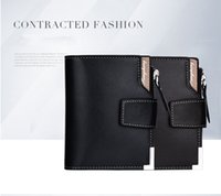 Wholesale houndstooth dresses wholesale - 2018 New Luxury M B Hot Leather Men's Business Short Wallet MT Purse Cardholder Wallet MB Upscale Gift Box Credit Card Holder