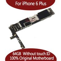 ingrosso scheda madre apple-Per la scheda madre iPhone 6 Plus originale sbloccato al 100% per la scheda madre iphone6 Plus 16GB 64GB senza Touch ID Funzione di buona qualità