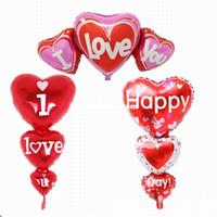 büyük boy balonlar toptan satış-2 Boyutları Balon Büyük Seni Seviyorum ang Mutlu Gün Balonlar Parti Dekorasyon Kalp Nişan Yıldönümü Düğün Sevgililer Balonlar 20180520 #