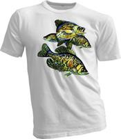 Wholesale crappie lures - Mens t shirt tee fishing Heddon lures Crappie fish new handmade unisex sport