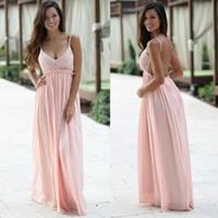 Wholesale pregnancy plus - Pearl Pink Sexy Open Back Prom Dresses 2018 Spaghetti Straps A Line Maternity Dress Pregnancy Dress Plus Size