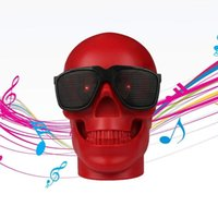 Wholesale rca computers online - Portable Skull Head Design Bulldog Speakers Personalized Cool Artistic Subwoofer Home Party Cafe Wireless Bluetooth Speakers